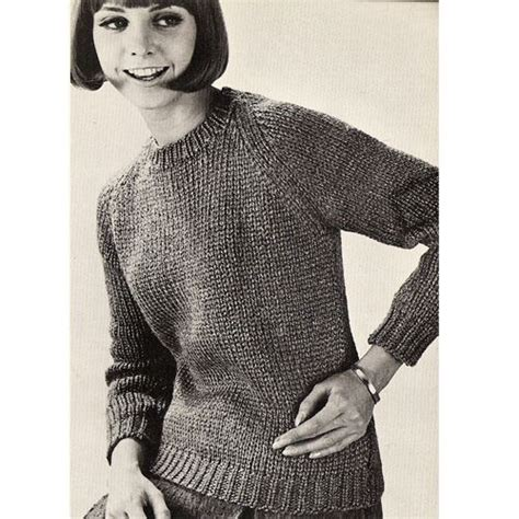 easy knit turtleneck sweater pattern misses beginners pullover sweater knitting pattern s m l