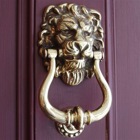 door knockers aged brass lion s head door knocker