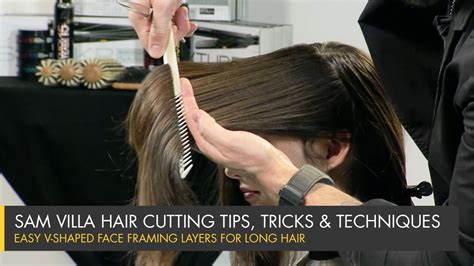 how to cut face frame how to cut perfect face framing layers for longer hair v