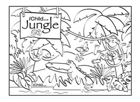 jungle coloring pages for preschoolers jungle colouring poster and puppet scenery ichild