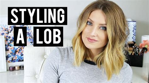 how to sytle a medium length lob to make wavy how to style a lob kendra atkins youtube