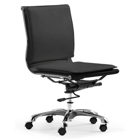 armless office chair z219 in white office chairs