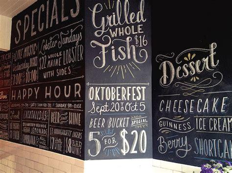menu design lettering designer creates hand lettered chalkboard menus in