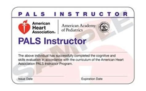 aha card template front and back 15 1806 pals instructor cards 15