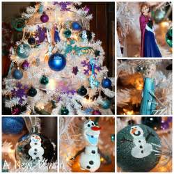 disney frozen christmas tree make your own olaf inspired