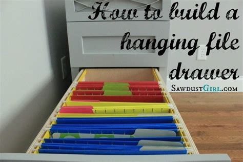 How to build a hanging file folder drawer   Sawdust Girl®