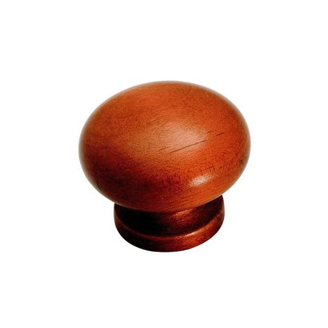 amerock 1 1 2 in cherry maple cabinet knob bp880 ma4