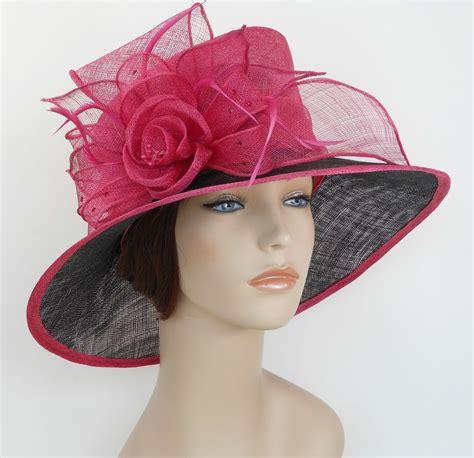 new church derby wedding sinamay ascot dress hat