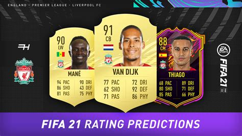 fifa  rating predictions liverpool futhead news