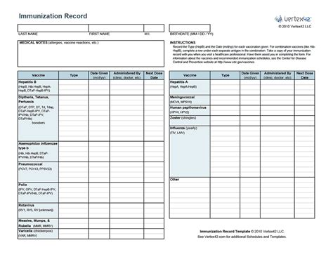 immunization card template russian free printable immunization record pdf from vertex42