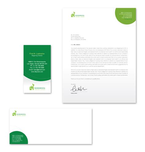environmental protection stationery kits template