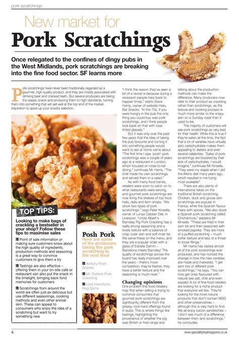 article cuisine speciality food magazine article bar snacks