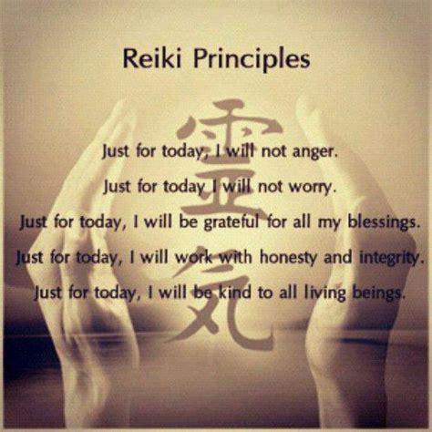 reiki principlesjust  today quotes  heart