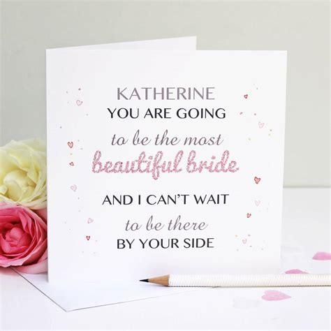 Wedding Gift Greetings by Personalised Beautiful Greeting Card By Martha