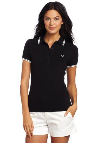 I Ring Hp Model Polos fred perry s tipped polo shirt black 16 62 99