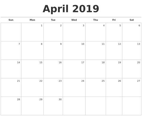 printable monthly calendar 2019 september 2019 make a calendar