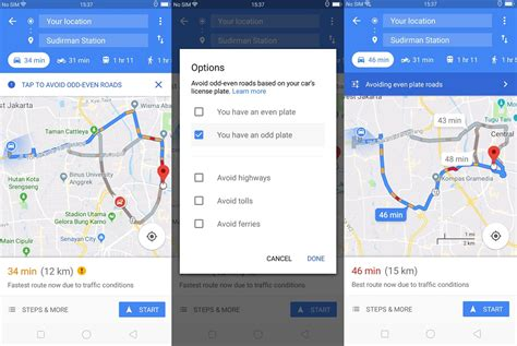 hindari rute ganjil genap pakai aplikasi navigasi