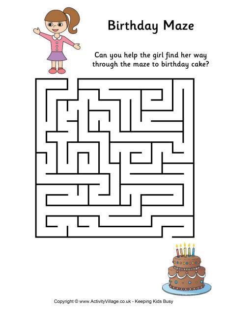 free printable turkey mazes birthday maze 1