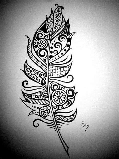 unique feather tattoo designs creative feather drawing feathers feathers