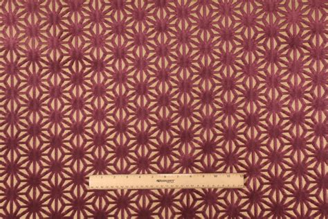 patterned velvet upholstery fabric star power velvet patterned upholstery fabric in plum
