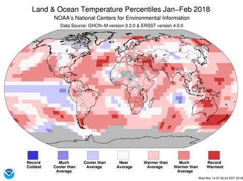 us temperature map february assessing the global climate in february 2018 national