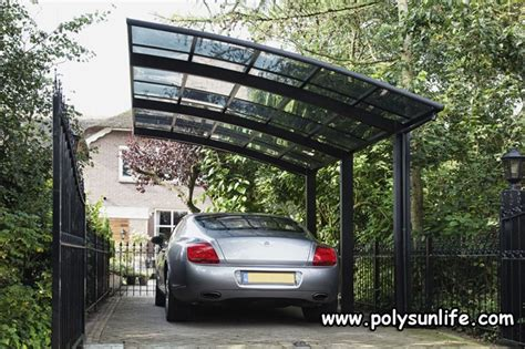 sun life single aluminum carport  polycarbonate roof