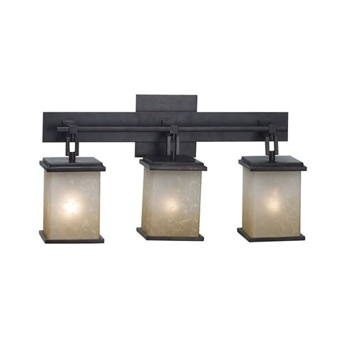 Bathroom Lighting Bronze Modern Bathroom Light With Glass In Rubbed