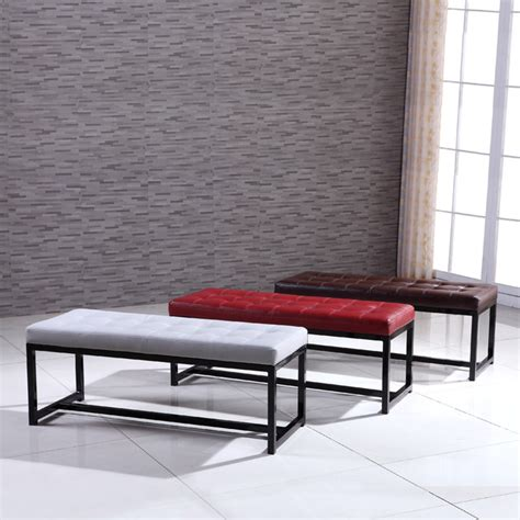 modern metal bench signature designs modern metal tufted bench contemporary