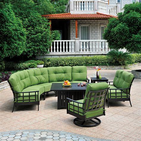 stratford estate deep seating crescent sectional