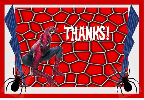printable birthday cards spiderman 9 best images of spider man party printables spider man