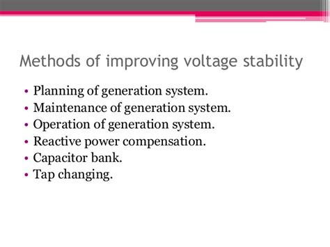 capacitor bank maintenance power system voltage stability