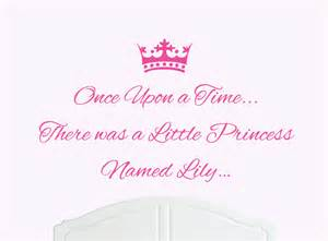 Lily Wall Stickers once upon a time princess lily wall sticker decal bed room