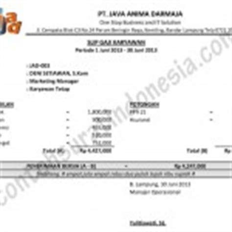 contoh slip gaji karyawan swasta resmi review ebooks
