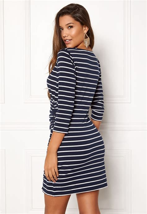 Alena Navy happy alena dress navy striped bubbleroom