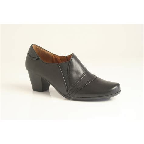caprice high cut shoe with zip and elastic panel in high
