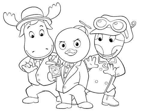 backyardigans coloring pages printable backyardigans coloring pages coloring me