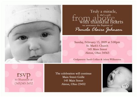 customized invitation card for christening custom photo baptism christening invitation photo