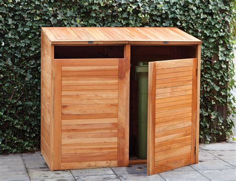 Plans For Garden Sheds by Hardwood Double Wheelie Bin Store