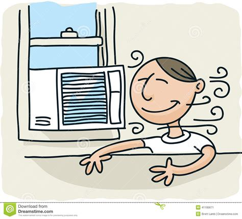 ars air conditioning window air conditioner stock illustration image of happy