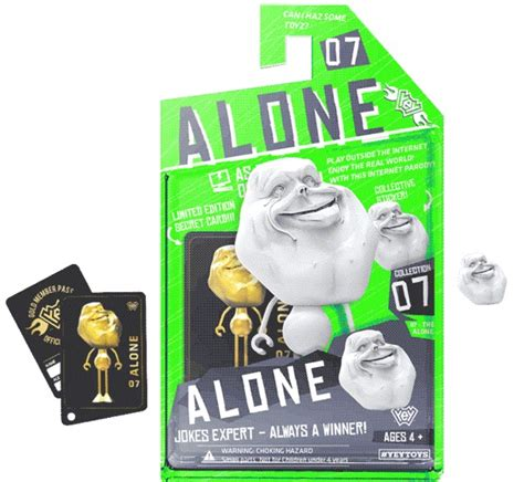 Meme Figurines - alone face internet meme figurine at mighty ape australia