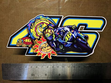 Kaos3d Print Vale 46 valentino decal sticker moto gp laptop helmet bike