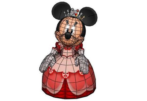 Mickey Mouse Papercraft - minnie mouse papercraftsquare free papercraft