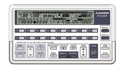 mitsubishi heavy industries air conditioning sc slna  centralised controller   weekly