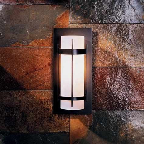 Outdoor Led Wall Sconce Hubbardton Forge 305892 Banded Led Outdoor Wall Sconce Lighting Hub 305892