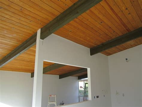 Mid Century Modern Ceiling by Cedar Tongue And Groove Green Button Homes