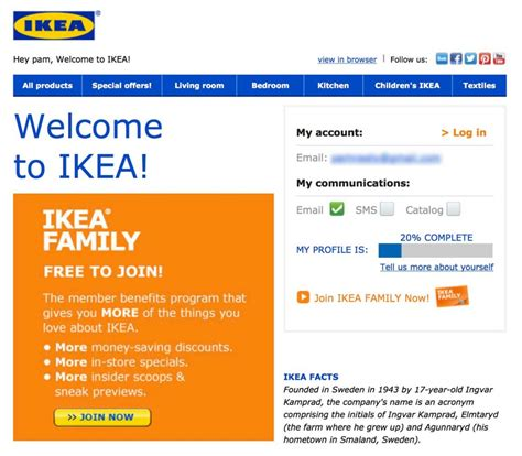 ikea mail 10 effective tips for stand out welcome emails caign