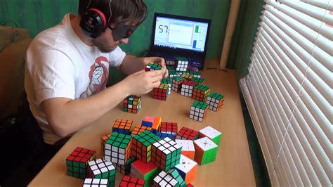 3x3 rubik s cube blindfolded tutorial solving 50 rubik s cubes blindfolded