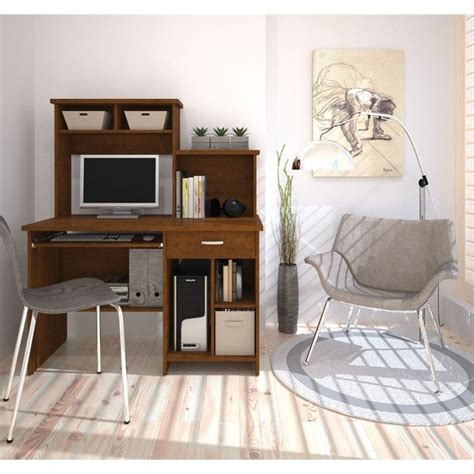 bestar active computer desk with bestar active computer workstation in tuscany brown 86450 2163