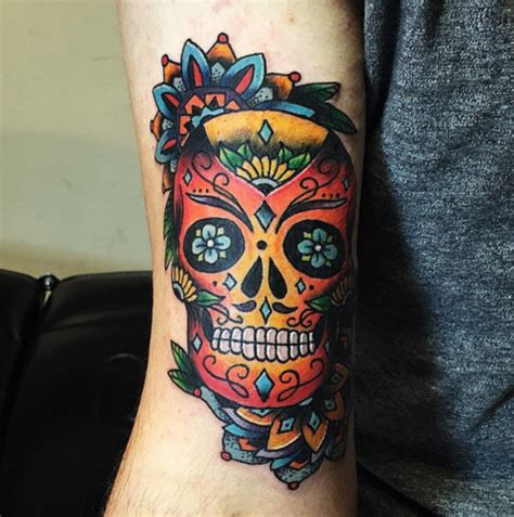 best tattoo shops in austin studio sugar skull mandala by