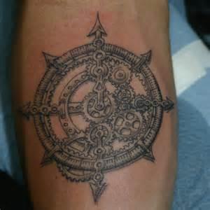 tatouage boussole rose des vents sur avant bras le